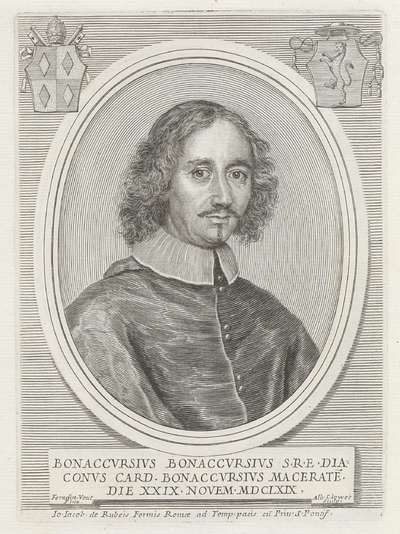 Portret van kardinaal Buonaccorso Buonaccorsi; Effigies Nomina et Cognomina S.D.N. Alexandri Papae VII et RR. DD. SRE. Cardd (...).