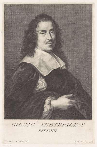 Portret van kunstenaar Justus Sustermans; Portretten van kunstenaars