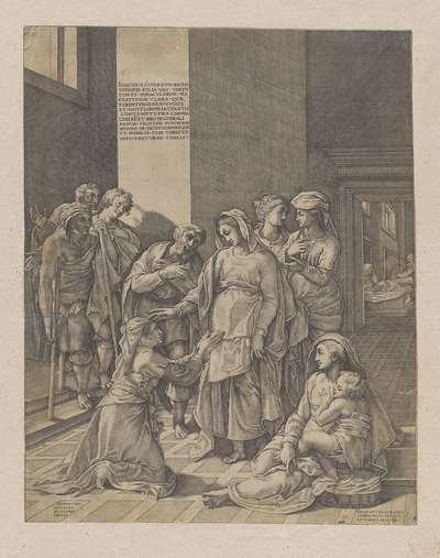 De heilige Elisabeth van Hongarije bezoekt de zieken
