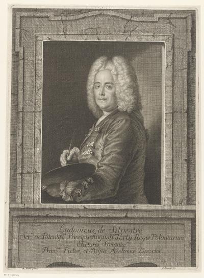 Portret van schilder Louis de Silvestre
