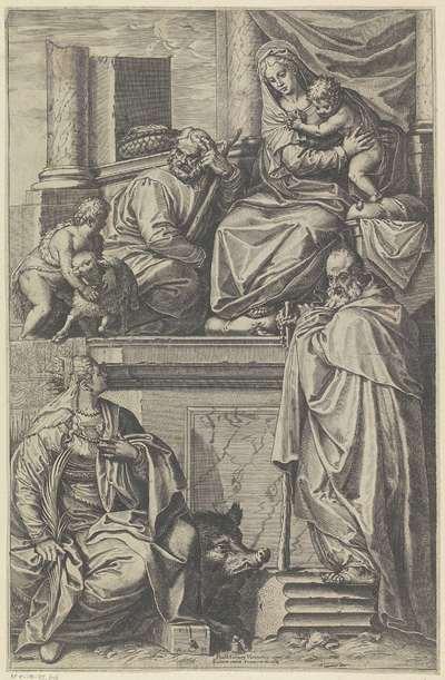 Heilige Familie met de heilige Catharina van Alexandrië en de heilige Antonius