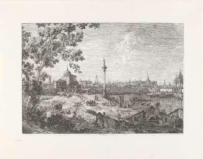 Gezicht op een stad; Gezichten op bestaande en verzonnen plaatsen; Vedute altre prese da i Luoghi altre ideate da Antonio Canal