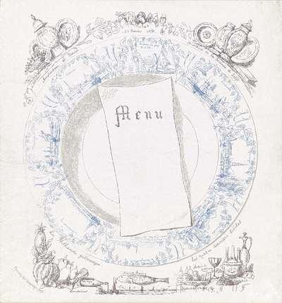 Image from object titled Menu voor een maaltijd aangeboden aan Henry Havard, 1878
