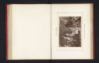 Fotoreproductie van een schilderij, voorstellende de kroning van keizer Lodewijk de Beier; Die Krönung Ludwig des Bayern