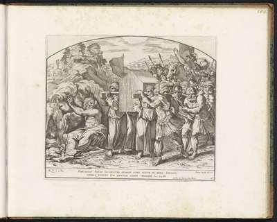 De Ark des Verbonds over de Jordaan gedragen; Schilderingen in de Loggia van Rafaël; Imagines Veteris ac Novi Testamenti; Rafaël Bijbel