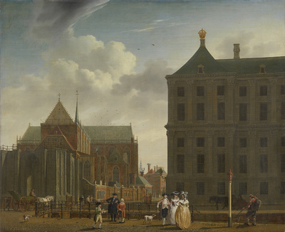 Image from object titled The Nieuwe Kerk and the Town Hall on the Dam in Amsterdam
