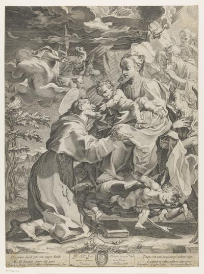 Maria overhandigt het Christuskind aan Franciscus