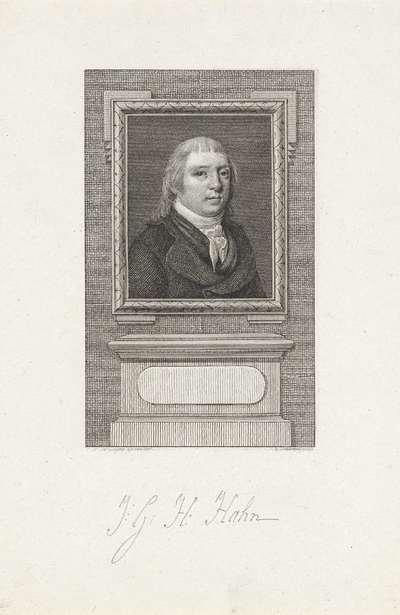 Portret van Jacob George Jeronimo Hahn