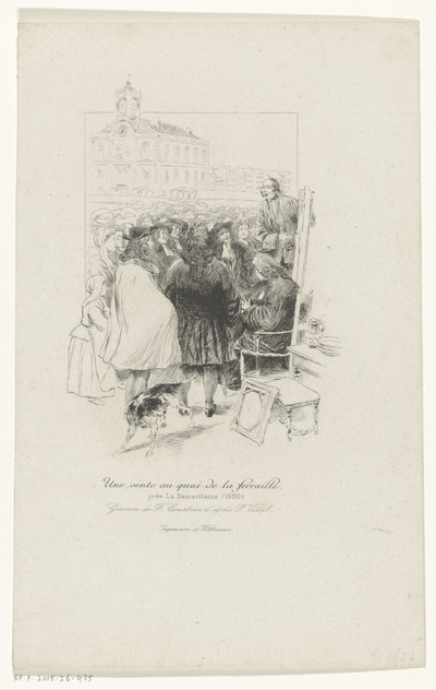 Veiling op de Quai de la Ferraille te Parijs; Une vente au quai de la ferraille
