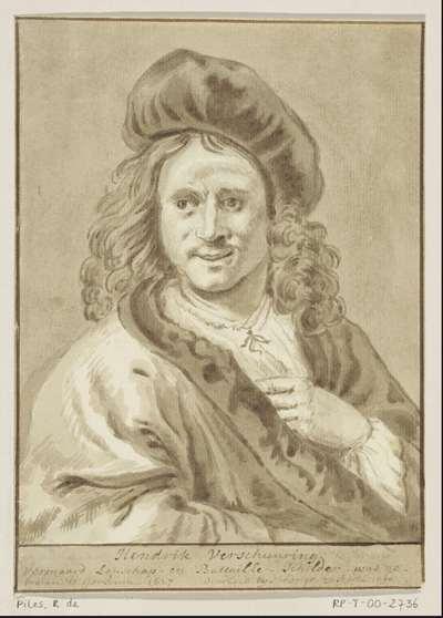 Portret van de schilder Hendrik Verschuring