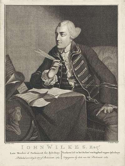 Portret van John Wilkes (staatsman)