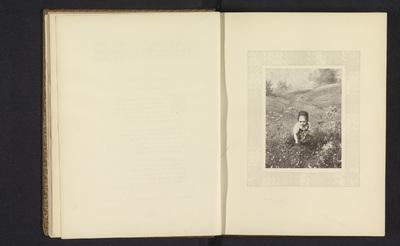 Image from object titled Fotoreproductie van een prent naar een schilderij van een meisje in een veld met bloemen door Ludwig Knaus
