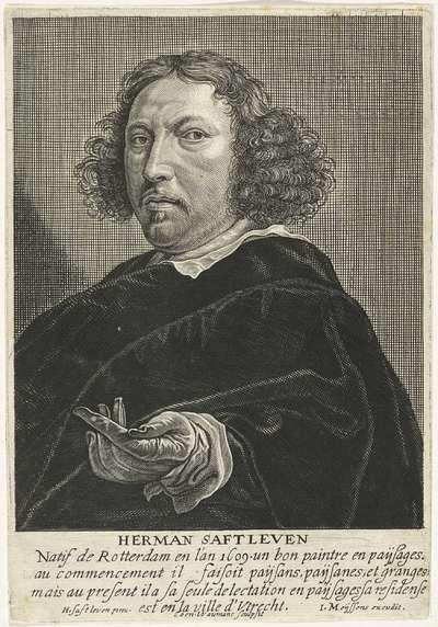 Portret van de schilder Herman Saftleven