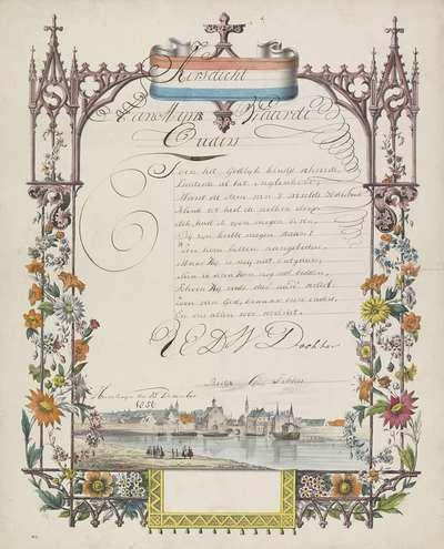 Wensbrief met gezicht op Delft