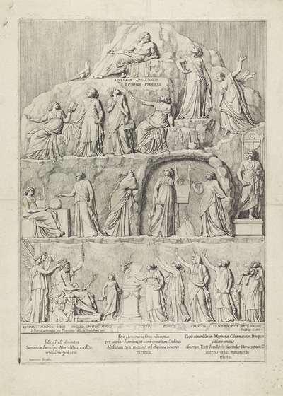 De apotheose van Homerus