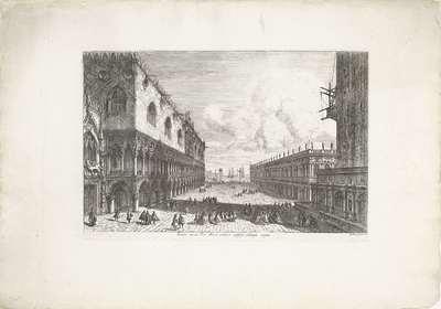 Piazza San Marco te Venetië; Forum minus Divi Marci publicijs utrinque insigne; Gezichten op Venetië; Magnificentiores selectioresque urbis Venetiarum prospectus