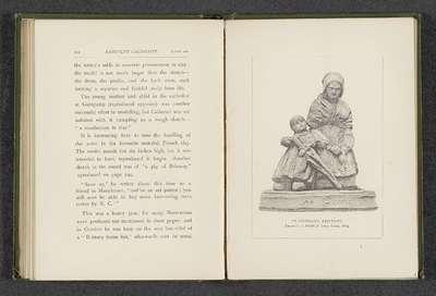 Model van een sculptuur door Randolph Caldecott, voorstellend een moeder met een kind; At Guingamp, Brittany