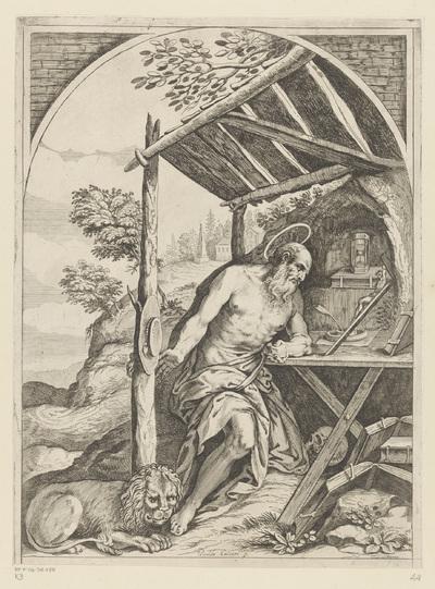 Heilige Hieronymus in de wildernis