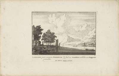 Hexenturm bij Lahnstein aan de Rijn; Vermakelijke gezigten aan den Rhijnstroom; Admirandorum quadruplex spectaculum