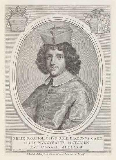 Portret van kardinaal Felice Rospigliosi; Effigies Nomina et Cognomina S.D.N. Alexandri Papae VII et RR. DD. SRE. Cardd (...).