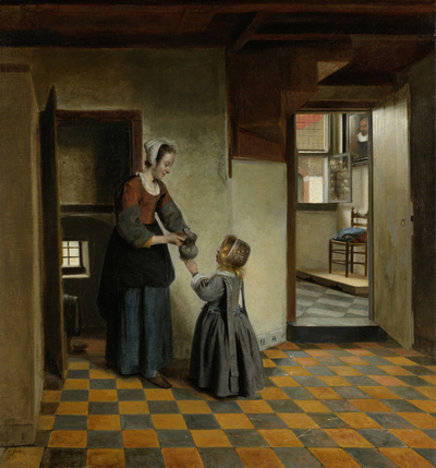Image from object titled Woman with a Child in a Pantry