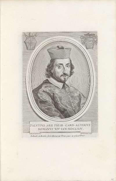 Portret van kardinaal Paluzzo Paluzzi Altieri; Effigies Nomina et Cognomina S.D.N. Alexandri Papae VII et RR. DD. SRE. Cardd (...).