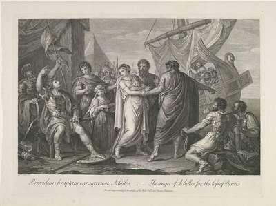 Achilles boos over het verlies van Briseïs; Briseidem ob raptam ira succensus Achilles / The anger of Achilles for the loss of Briseis