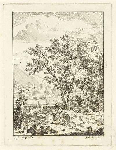 Landschap met herderfamilie