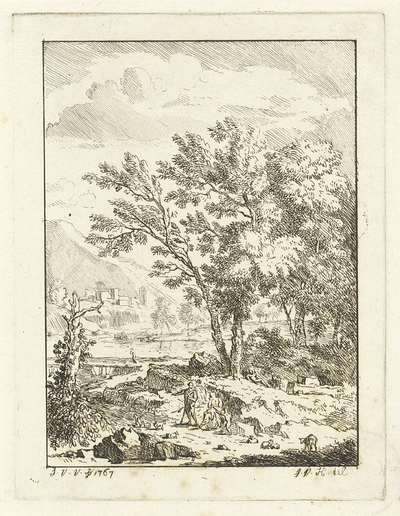 Image from object titled Landschap met herderfamilie