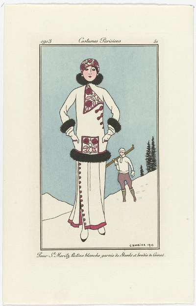 Journal des Dames et des Modes, Costumes Parisiens, 1913, No. 51 : Pour St. Moritz (...)