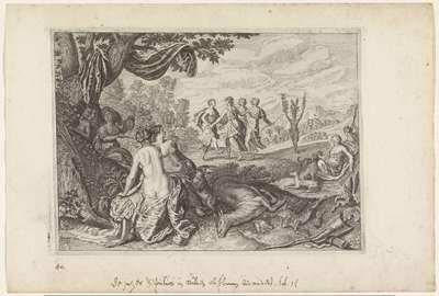 Apulus verandert in een olijfboom; Metamorfosen van Ovidius