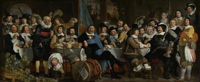Image from object titled Banquet at the Crossbowmen's Guild in Celebration of the Treaty of Münster