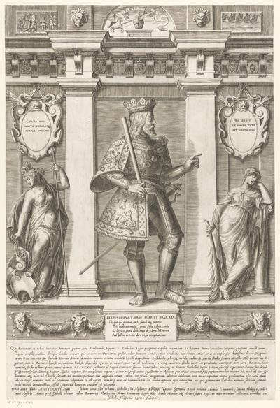Portret van Ferdinand II de Katholieke, koning van Aragón; Portretten van leden van het Oostenrijkse Huis; Austriacae gentis imaginum