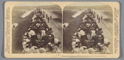 Image from object titled First Train of Refugees out of Kimberly after the siege (Feb. 22), S. Africa