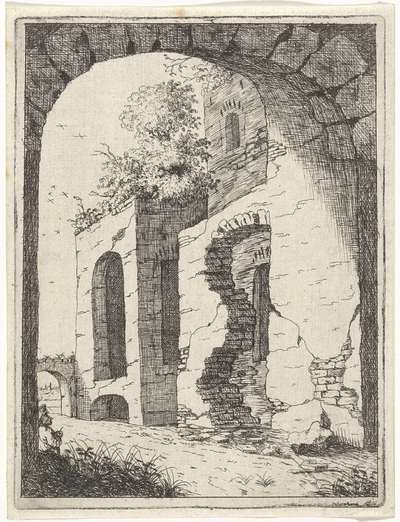 Begroeide ruïne; Landschappen met ruïnes; Diversa antiquitatis vestigi (...)