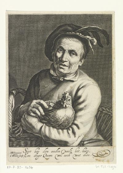Boer met kip