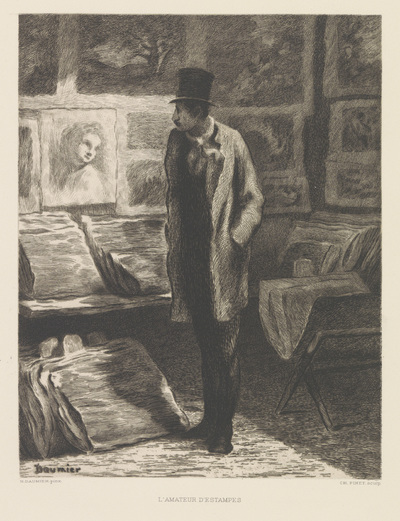 Verzamelaar van prenten; L'amateur d'estampes