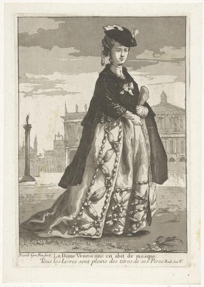 De Venetiaanse dame; La Dame Venitienne en abit de masque; Divers Portraits