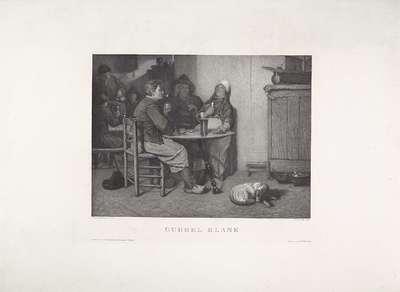 Dominospelers in een interieur; Dubbel blank