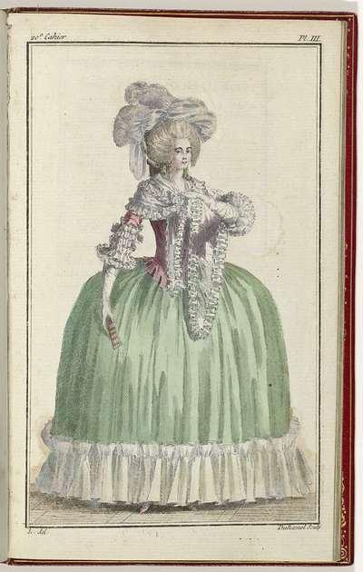 Cabinet des Modes ou les Modes Nouvelles, 1 Septembre 1786, pl. III