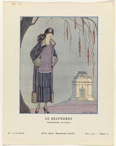 Gazette du Bon Ton. Art- Modes & Frivolités, 1924 - No. 7 : Le Belvédère / Robe-Manteau, de Worth