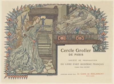 Affiche voor de Cercle Grolier de Paris