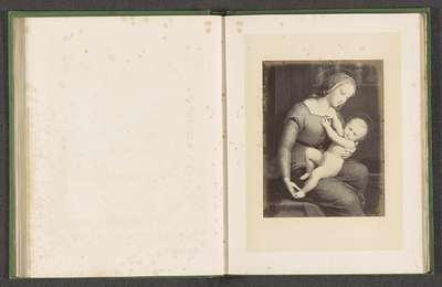 Fotoreproductie van een prent door F. Forster van de Madonna d'Orleans door Rafaël