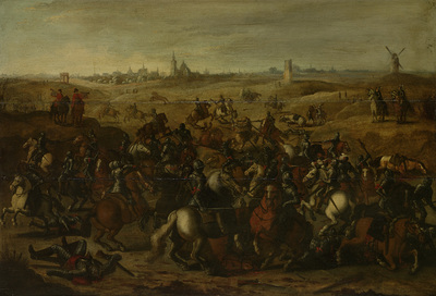Image from object titled Battle between Bréauté and Leckerbeetje on the Vughterheide, 5 February 1600