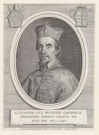 Portret van kardinaal Alessandro Crescenzi; Effigies Nomina et Cognomina S.D.N. Alexandri Papae VII et RR. DD. SRE. Cardd (...).