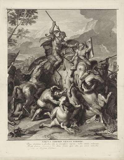 Veldslag rond koning Poros (midden blad)