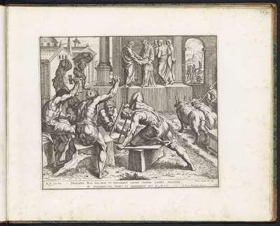 Salomo bouwt de tempel in Jerusalem; Schilderingen in de Loggia van Rafaël; Imagines Veteris ac Novi Testamenti; Rafaël Bijbel