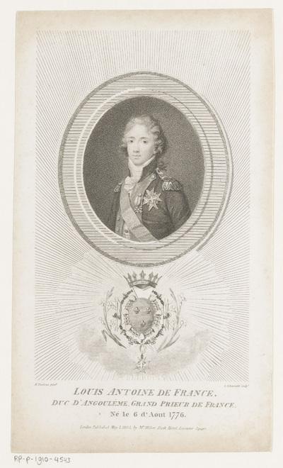 Portret van hertog Lodewijk Anton van Bourbon
