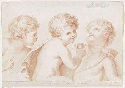 Drie putti; Ciprianis beginselen van het tekenen; Ciprianis rudiments of drawing