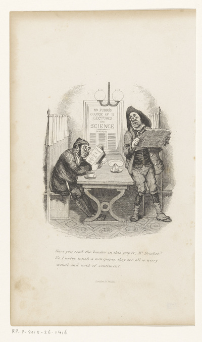 Twee mannen in gesprek in een koffiehuis